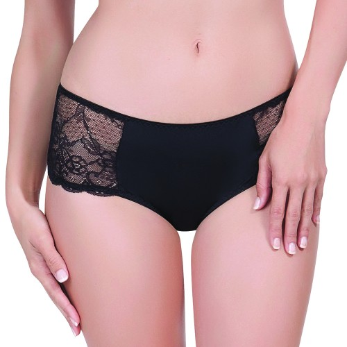 Affinitas Intimates Nicole Hipster Black Front