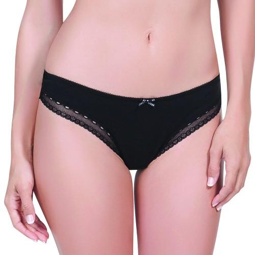 Affinitas Sienna Thong Panty Black Front