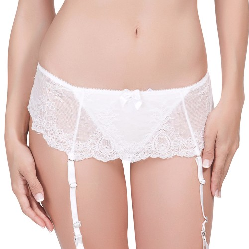 Affinitas Pearl Skirted Thong Panty Ivory Front