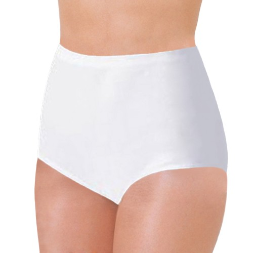 Bali Full Cut Fit Stretch Cotton Brief White