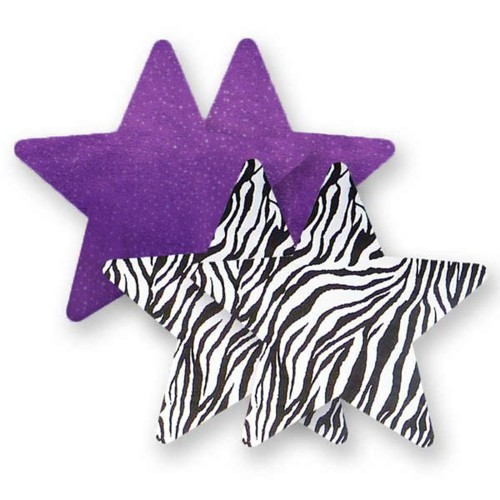 Bristols 6 Nippies Purple Rage Star Nipple Pasties