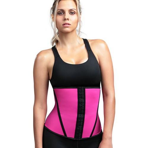 Divafit Sport Waist Trainer Pink Front