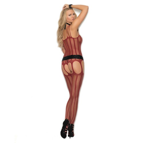 Elegant Moments Fishnet Suspender Bodystocking Style 1301