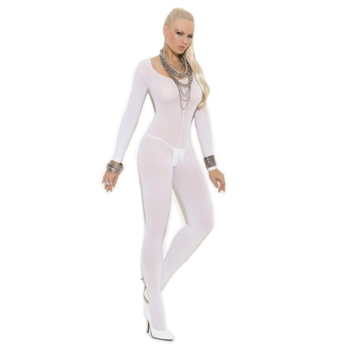 Elegant Moments Opaque Long Sleeve Open Crotch Bodystocking Style 1606