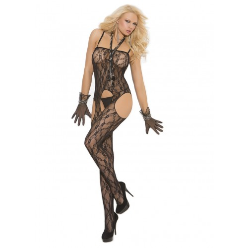 bcc66971ea2 Elegant Moments Lace Suspender Bodystocking
