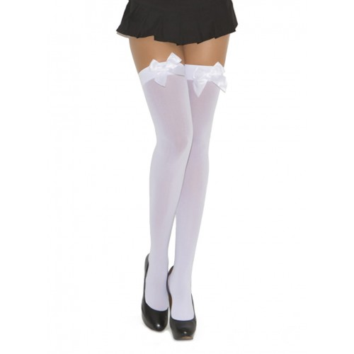 Elegant Moments Opaque Bow Thigh Highs