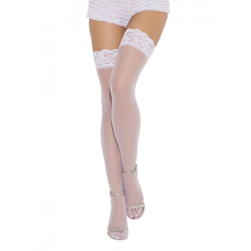 Elegant Moments Plus Size Sheer Lacetop Stockings Style 1721Q