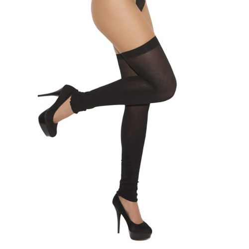 Elegant Moments Opaque Thigh High Leg Warmers Front
