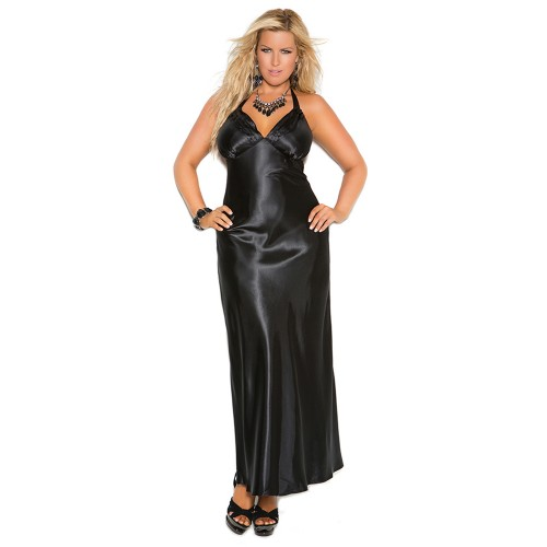 ad03550a78 ... Elegant Moments Satin Halter Neck Charmeuse Nightgown Style 1919