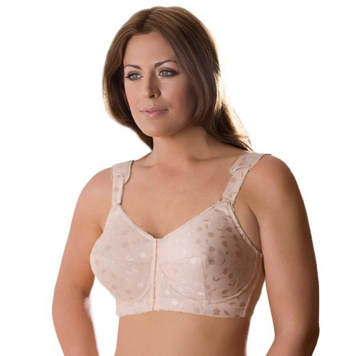 Elila Jacquard Soft Cup Bra with Front Closure Style 1515