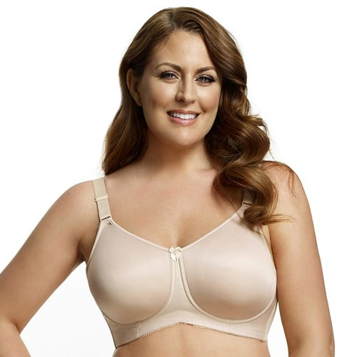 Elila Full Figure Molded Soft Cup Bra Nude Front