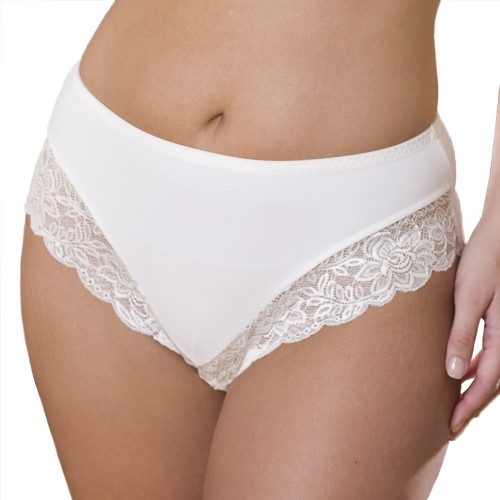 Elila Stretch Lace Pantie Ivory