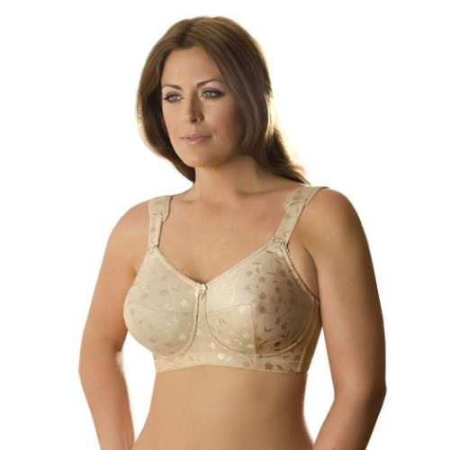 Elila Jacquard Soft Cup Bra with Cushioned Straps Style 1305