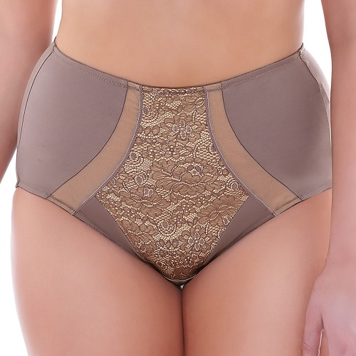 Elomi Raquel High Waist Panty Brief Taupe Front
