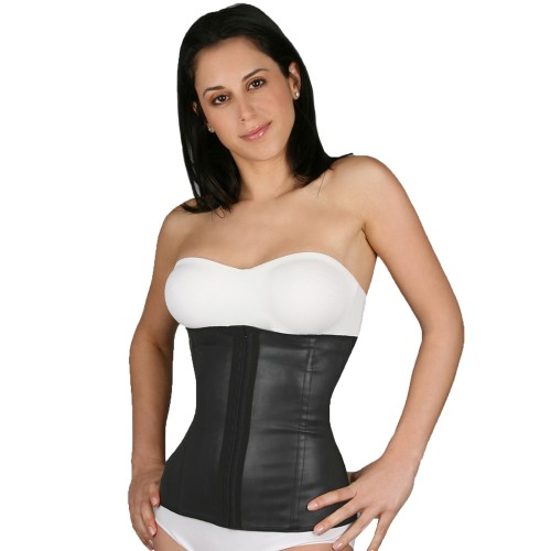 Flakisima Rubber & Cotton Firm Waist Cincher Black