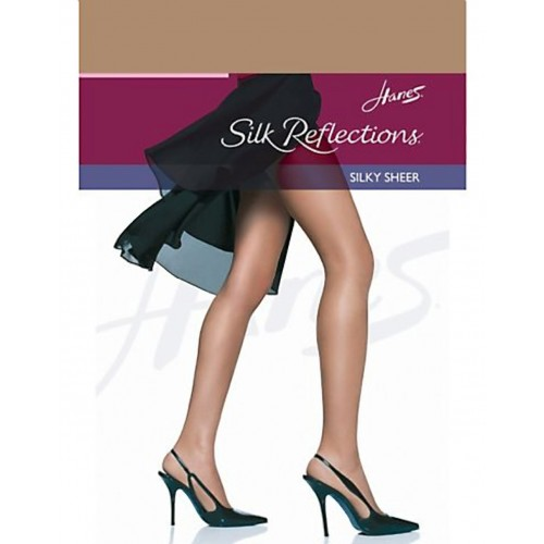 Hanes Silk Reflections Silky Sheer RT Pantyhose Barely There