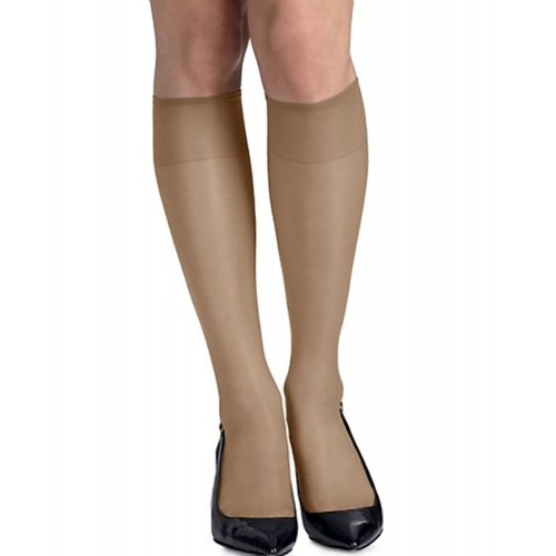 Hanes Silk Reflections Silky Sheer RT Knee High Barely There