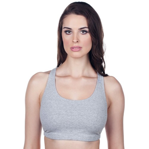 Leading Lady Full Figure Sports Bra Gray Front