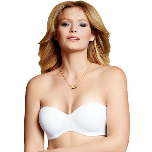 Lilyette Convertible Straps Strapless Bra White Tailored