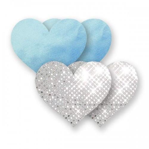 Bristols 6 Nippies Something Blue Heart Nipple Pasties