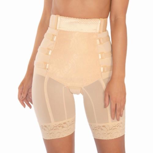 Pink Shaper Postpartum Long Leg Girdle Beige Front