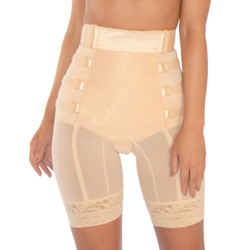 Pink Shaper Postpartum Long Leg Girdle Beige Front
