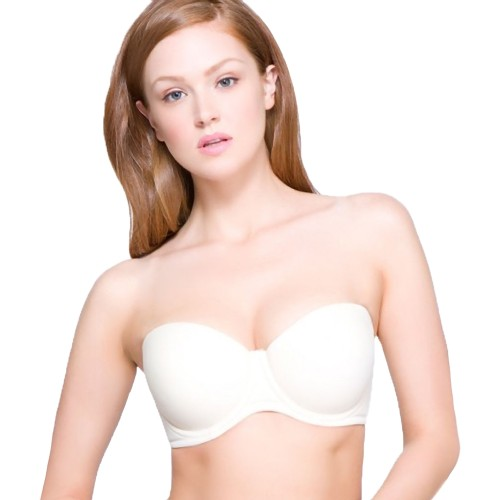 QT Special Occasions Underwire Strapless Bra White Front