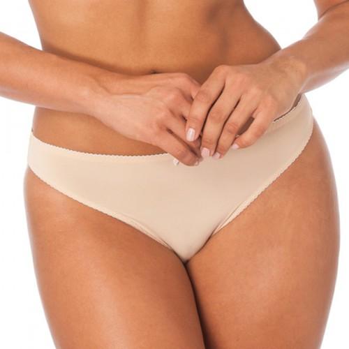 QT Intimates Crème Bralée Yvonne Microfiber Panty Frappe Ivory