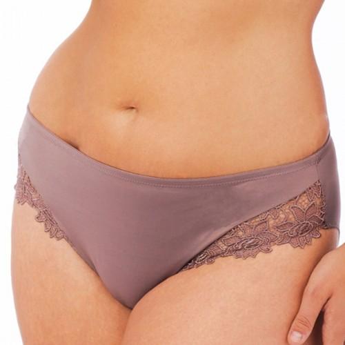 QT Intimates Crème Bralée Zoe Venise Lace Panty Mink Front