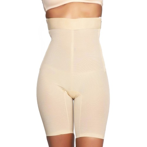 QT Intimates Zippered High Waist Heavy Control Shaper Nude Front