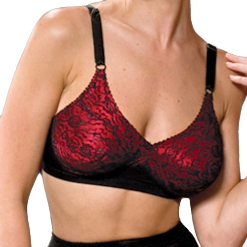 Rago Satin and Lace Soft Cup Fashion Bra