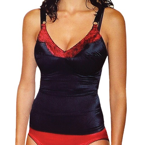 Rago Satin and Lace Stretch Control Camisole