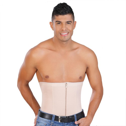 Salome Men's Zip Front Waist Cincher Front