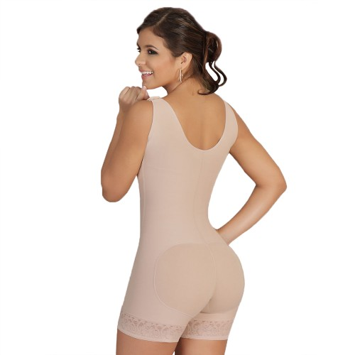 Salome High Back Wide Straps Full Body Shaper Style 0217