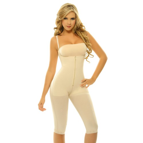 Body Line Powernet Braless Capri Body Briefer Nude Front