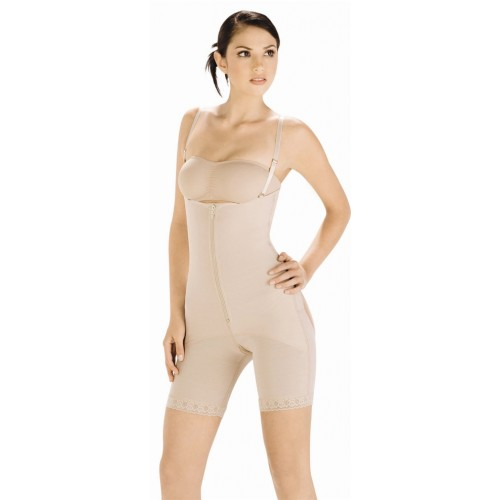 Body Line Powernet Latex Braless Butt Enhancer Long Leg Body Briefer Style 1029
