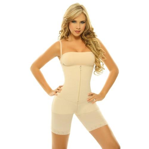 Siluet Azalea Braless Zip-Front Long Leg Body Briefer Style 1161