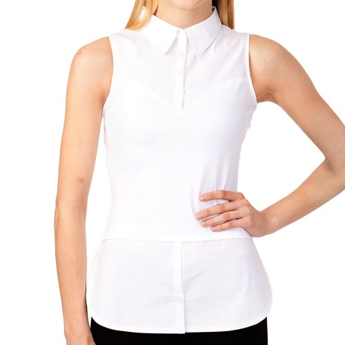 SkinnyShirt Sleeveless Colar and Tails Style COLTAIL100