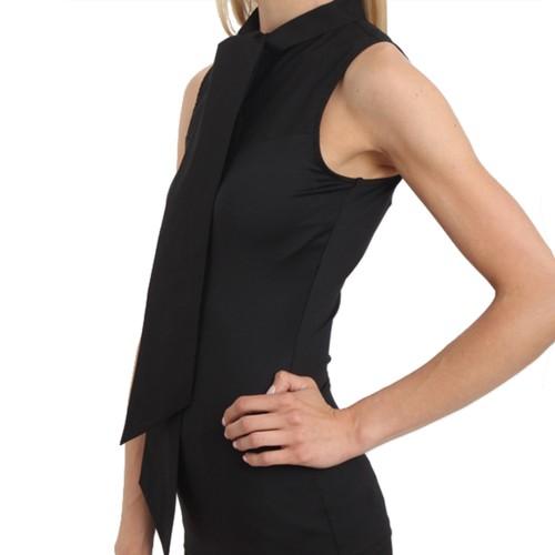 SkinnyShirt Sleeveless Bow Tie Collar Style CSCOT500