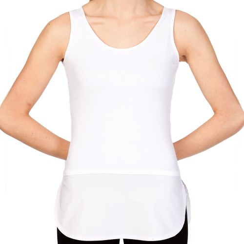 SkinnyShirt Tank and Tails White Front