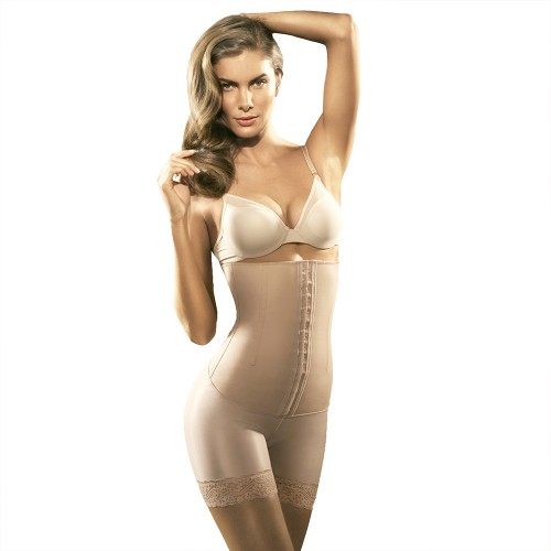 Squeem Sexy Body Mid Thighs Strapless Shapewear Beige Main