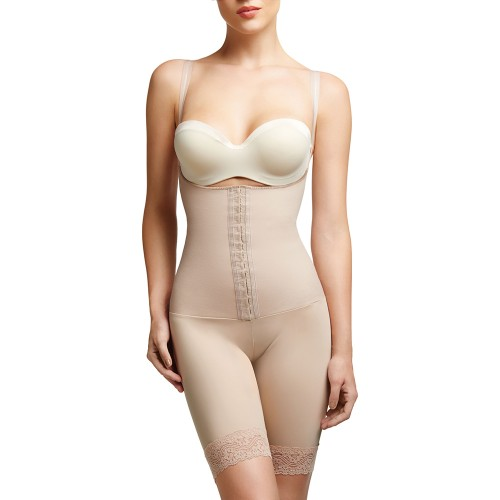 Squeem Sensual Curves Mid Thighs Shapewear Beige Front
