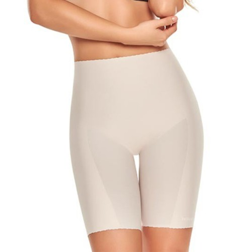 TrueShapers Mid-thigh Seamless Shaper Short Nude Front