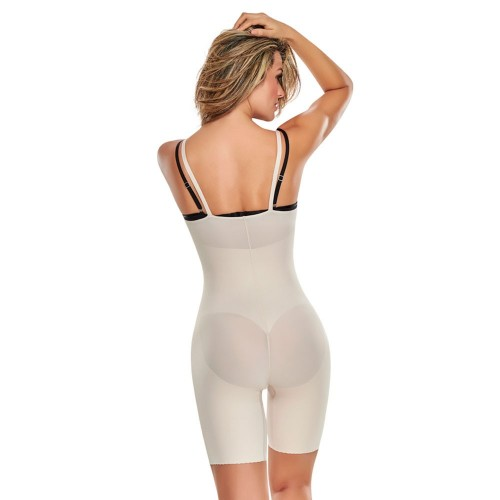 TrueShapers Seamless Mid-thigh Braless Bodysuit Style 1272
