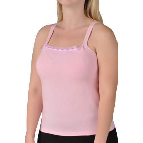 Valmont Cotton and Spandex Camisole Bra Top Pink