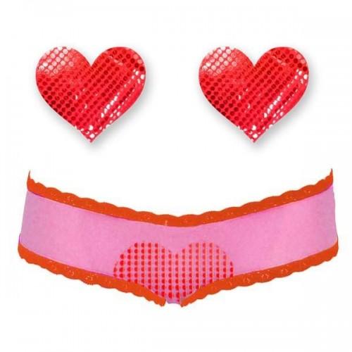 Bristols 6 Intimates Heart Cheeky Set