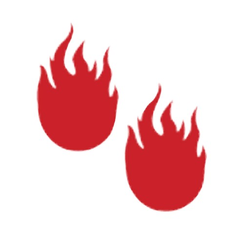 Pastease Flames Nipple Covers Red
