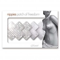 Bristols 6 Nippies Studio Silver Cross Nipple Pasties