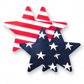 Bristols 6 Nippies Patriot Star Nipple Pasties
