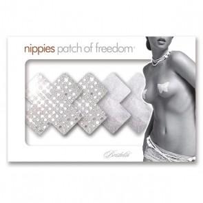 Bristols 6 Nippies Studio Silver Cross Nipple Pasties